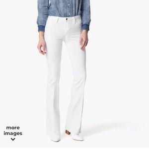 Joe's Jeans Mid-Rise Bootcut White Jeans